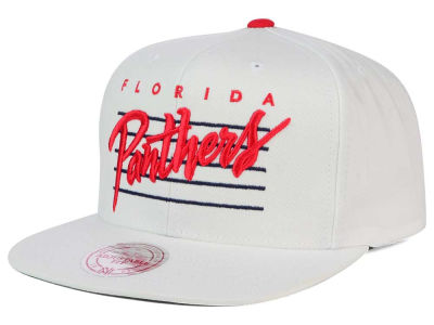 Florida Panthers Mitchell and Ness NHL Cursive Script Cotton Snapback Cap