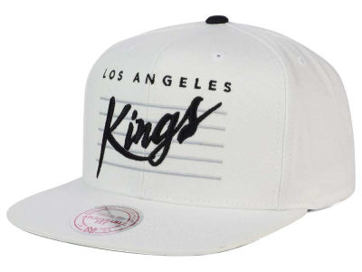Los Angeles Kings Mitchell and Ness NHL Cursive Script Cotton Snapback Cap