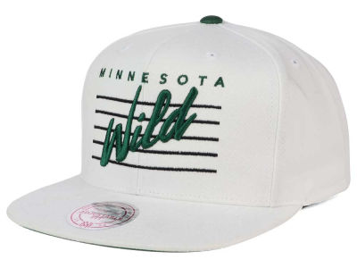 Minnesota Wild Mitchell and Ness NHL Cursive Script Cotton Snapback Cap