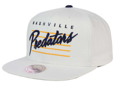 Nashville Predators Mitchell and Ness NHL Cursive Script Cotton Snapback Cap