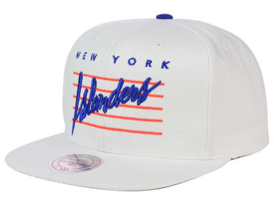 New York Islanders Mitchell & Ness NHL Cursive Script Cotton Snapback Cap