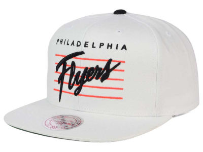Philadelphia Flyers Mitchell and Ness NHL Cursive Script Cotton Snapback Cap