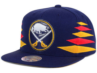 Buffalo Sabres Mitchell and Ness NHL Solid Diamond Snapback Cap
