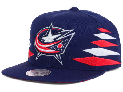 Columbus Blue Jackets Mitchell and Ness NHL Solid Diamond Snapback Cap
