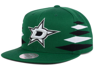 Dallas Stars Mitchell and Ness NHL Solid Diamond Snapback Cap