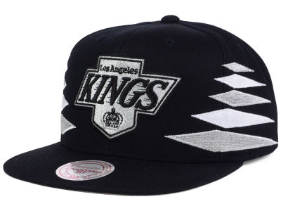 Los Angeles Kings Mitchell and Ness NHL Solid Diamond Snapback Cap