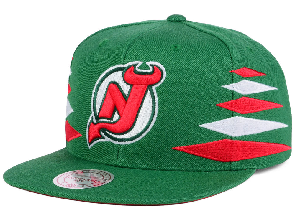 New Jersey Devils Mitchell   Ness NHL Solid Diamond Snapback Cap ... 055af4f83518