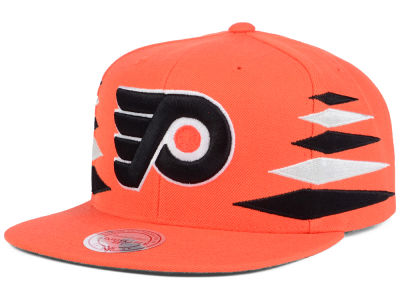 Philadelphia Flyers Mitchell & Ness NHL Solid Diamond Snapback Cap
