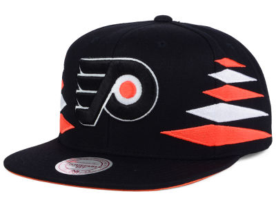 Philadelphia Flyers Mitchell and Ness NHL Solid Diamond Snapback Cap