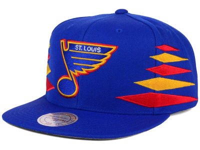 St. Louis Blues Mitchell and Ness NHL Solid Diamond Snapback Cap