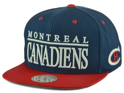 Montreal Canadiens Mitchell and Ness NHL Top Shelf Snapback Cap