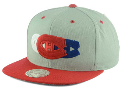 Montreal Canadiens Mitchell and Ness NHL Triple Color Stack Snapback Cap