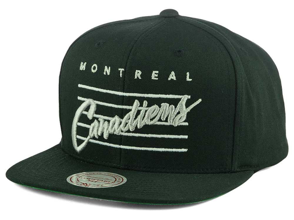 472290b3b ... uk montreal canadiens mitchell ness nhl cursive script cotton snapback  cap lids 07b8f 5c578