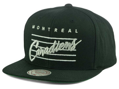 Montreal Canadiens Mitchell and Ness NHL Cursive Script Cotton Snapback Cap