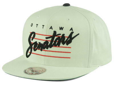 Ottawa Senators Mitchell and Ness NHL Cursive Script Cotton Snapback Cap