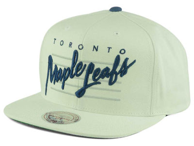Toronto Maple Leafs Mitchell and Ness NHL Cursive Script Cotton Snapback Cap