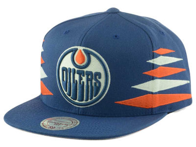 Edmonton Oilers Mitchell and Ness NHL Solid Diamond Snapback Cap