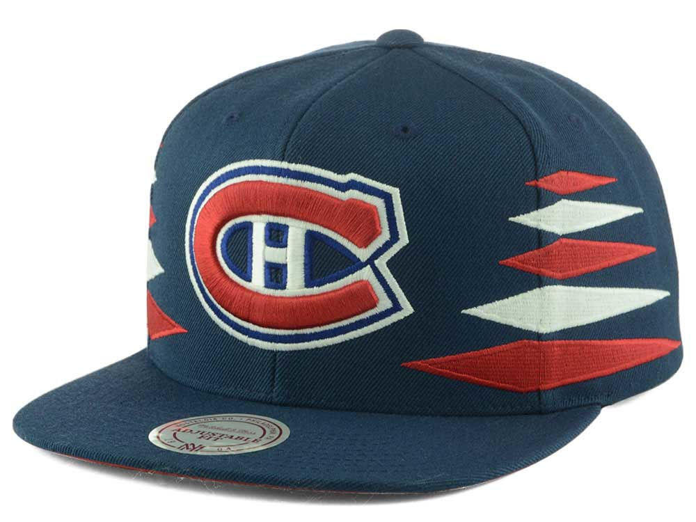 e0c5be7537a Montreal Canadiens Mitchell   Ness NHL Solid Diamond Snapback Cap ...