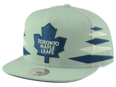 Toronto Maple Leafs Mitchell and Ness NHL Solid Diamond Snapback Cap