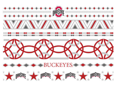 Ohio State Buckeyes Metallic Jewelry Temporary Tattoos