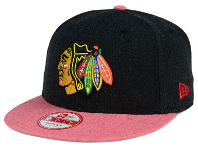 Chicago Blackhawks New Era NHL Heather Action 9FIFTY Snapback Cap