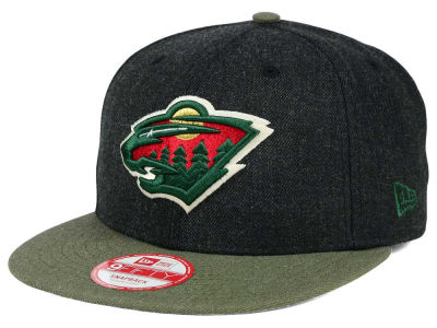 Minnesota Wild New Era NHL Heather Action 9FIFTY Snapback Cap