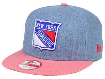 New York Rangers New Era NHL Heather Action 9FIFTY Snapback Cap