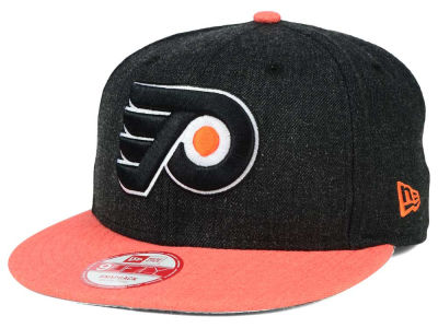 Philadelphia Flyers New Era NHL Heather Action 9FIFTY Snapback Cap