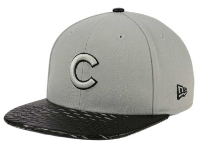 Chicago Cubs New Era MLB Leather RIP 9FIFTY Snapback Cap