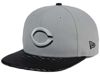 Cincinnati Reds New Era MLB Leather RIP 9FIFTY Snapback Cap