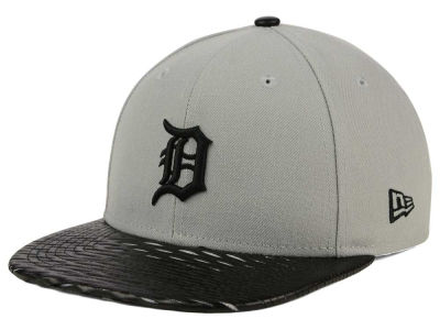 Detroit Tigers New Era MLB Leather RIP 9FIFTY Snapback Cap