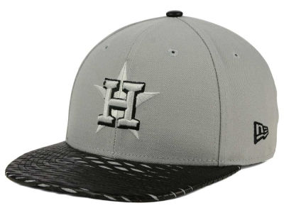 Houston Astros New Era MLB Leather RIP 9FIFTY Snapback Cap