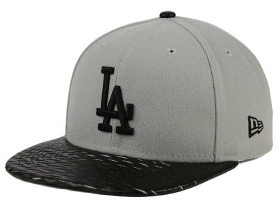 Los Angeles Dodgers New Era MLB Leather RIP 9FIFTY Snapback Cap