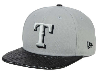 Texas Rangers New Era MLB Leather RIP 9FIFTY Snapback Cap