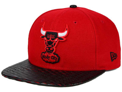 Chicago Bulls New Era NBA HWC Leather Rip 9FIFTY Snapback Cap
