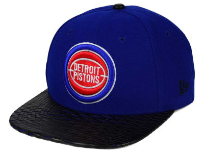 Detroit Pistons New Era NBA HWC Leather Rip 9FIFTY Snapback Cap