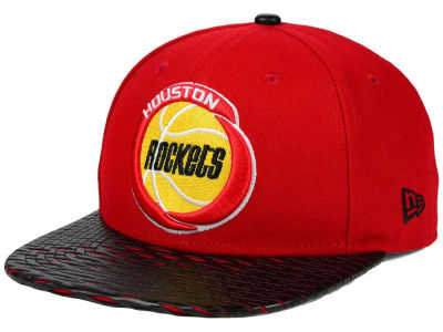 Houston Rockets New Era NBA HWC Leather Rip 9FIFTY Snapback Cap