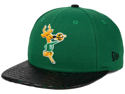 Milwaukee Bucks New Era NBA HWC Leather Rip 9FIFTY Snapback Cap
