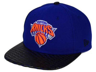 New York Knicks New Era NBA HWC Leather Rip 9FIFTY Snapback Cap
