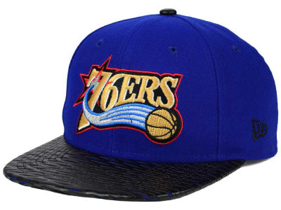 Philadelphia 76ers New Era NBA HWC Leather Rip 9FIFTY Snapback Cap