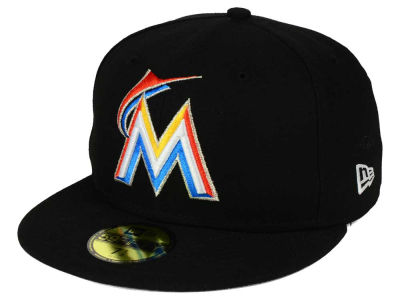 Miami Marlins New Era MLB Flag Stated 59FIFTY Cap