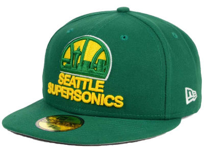 Seattle SuperSonics New Era NBA HWC Flag Stated 59FIFTY Cap