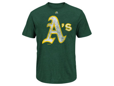 Oakland Athletics Majestic MLB Men's Leadoff Cooperstown T-Shirt