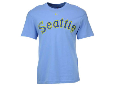 Seattle Mariners Majestic MLB Men's Leadoff Cooperstown T-Shirt