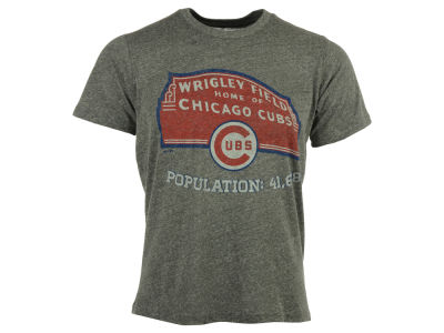 Chicago Cubs MLB Men's Triblend Cooperstown Logo T-Shirt