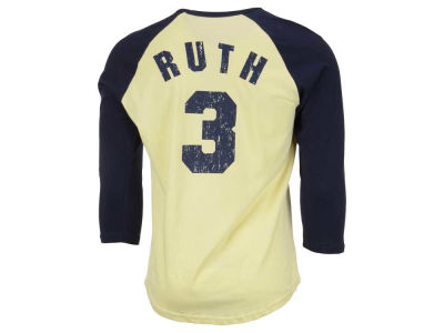 New York Yankees Babe Ruth MLB Men's Cooperstown Player Soft Raglan T-Shirt