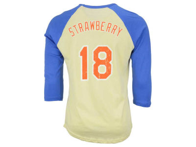 New York Mets Darryl Strawberry MLB Men's Cooperstown Player Soft Raglan T-Shirt