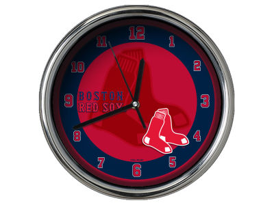 Boston Red Sox Chrome Clock II