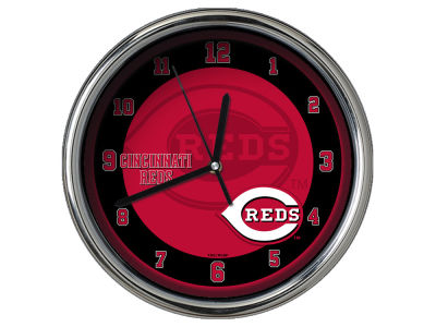 Cincinnati Reds Chrome Clock II
