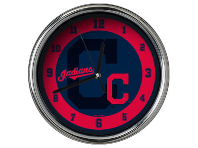 Cleveland Indians Chrome Clock II